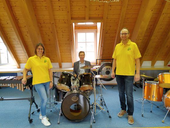 Spendenscheck für den Musikverein Umpfertal e. V.